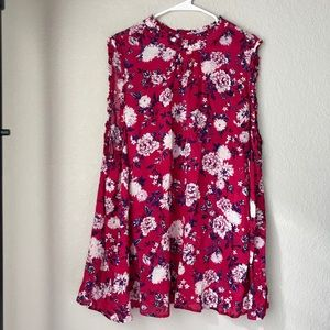 Torrid | Pink Floral Sleeveless Top - Size 5